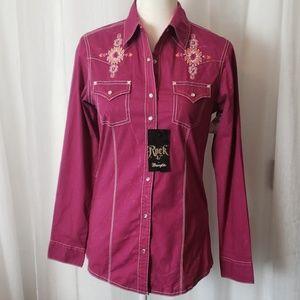NEW Rock Wrangler Western Shirt Size Small